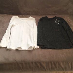 Girls Children's Place bundle of 2 shimmer shirts